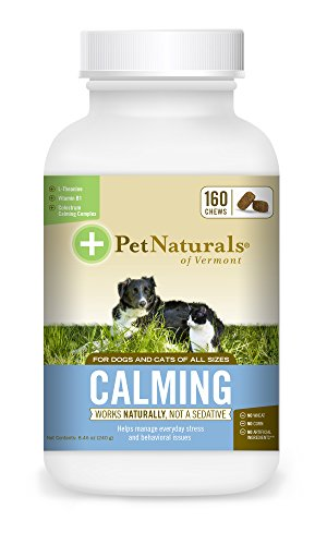 Pet Naturals of Vermont Calming, behavioral Support for Dogs & Cats, 160 Bite Sized Chews