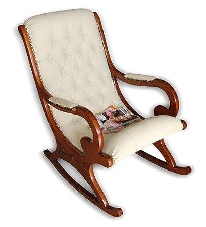 Hindoro Enterprises Rocking Chair With Cushion Teak Wood Amazon