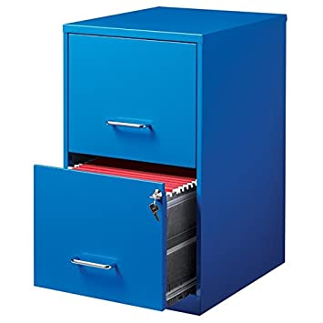 Amazon.com : Hirsh 2 Drawer File Cabinet in Blue : Office Products