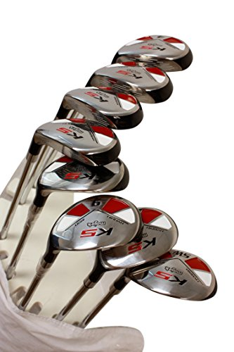 "Senior Men's Majek Golf All Hybrid Complete Full Set, which includes: #4, 5, 6, 7, 8, 9, PW +SW Senior Flex Right Handed New Rescue Utility ""A"" Flex Club by Majek (Image #1)"