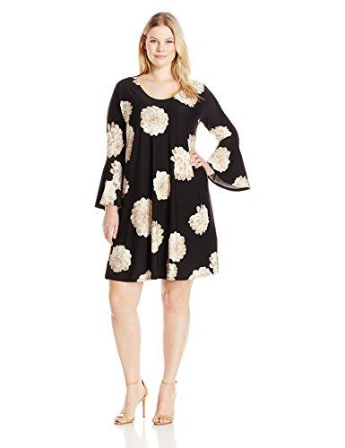 karen-kane-womens-plus-size-flare-sleeve-taylor-dress-floral-2x