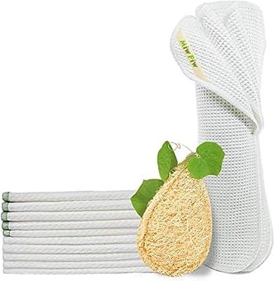 Toallas reutilizables de papel de bambú, alternativa de algodón ...