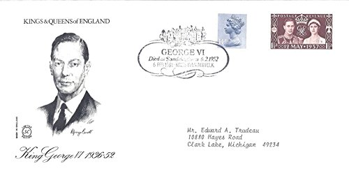 UK First Day Cover 6 February 1981 Kings And Queens Of England King George VI 1936-1952
