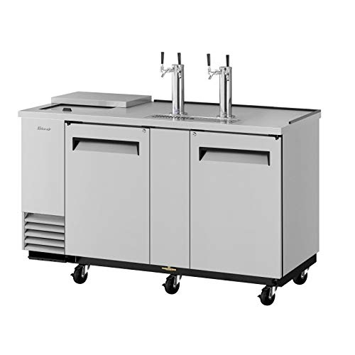 Direct Draw 3 Keg Beer Cooler Dispenser Club Top Stainless (Dispenser Direct 3 Keg Draw)