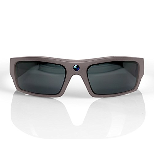 GoVision SOL 1080p HD Camera Glasses Video Recording Sport Sunglasses with Bluetooth Speakers and 15mp Camera - Warm Grey by GoVision