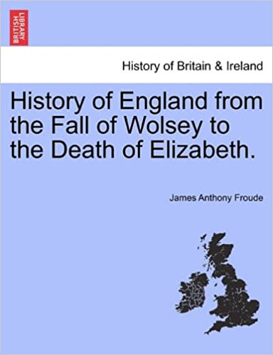 Book History of England from the Fall of Wolsey to the Death of Elizabeth.