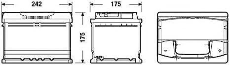 12/V Dimensions: 278/x 175/x 175 Battery for Car Tudor Exide Technica 71/Ah Borne Right.