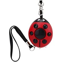 Promotion!!!Guard 130dB Personal Alarm with LED Flashlight,Self Defense Keychain,Loudest Emergency Survival Whistle for Jogger/Women/Kids/Elderly/Night Worker/Attack/Rape/Protection,Bag Decoration