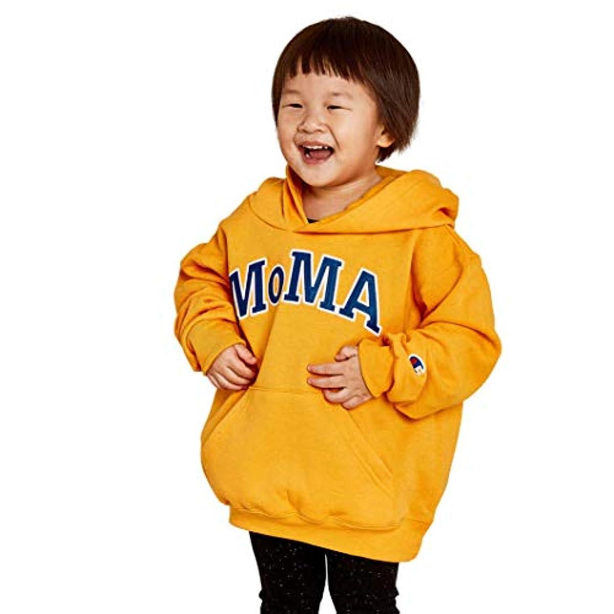[해외] MoMA 모마 X 챔피온 키즈 후드 L 옐로우