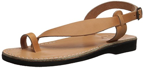 Jerusalem Sandals Women's Mia, tan, 39 Medium EU (8-8.5 US)