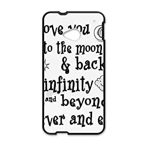 Happy I Love You To The Moon And Back Cell Phone Case for HTC One M7