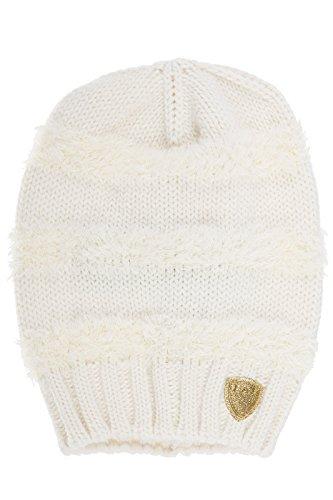 Emporio Armani EA7 women's beanie hat train graphic rapper white US size S 285388 6A735 00011 by Emporio Armani