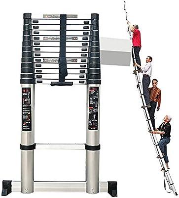 Escaleras Telescópicas Multifunción Scalera de extensión telescópica de aluminio multiusos, Estabilizador de escalera telescópica plegable de alta resistencia plegable de ingeniería, capacidad de 330: Amazon.es: Hogar