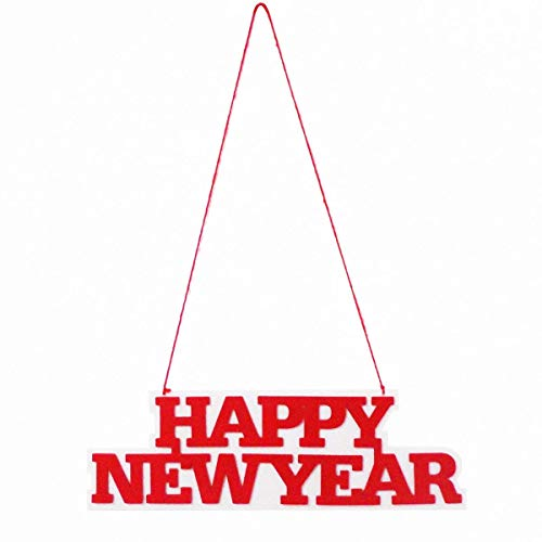BinaryABC New Year Hanging Decorations,Happy New Year Door Decoration,New Year's Eve Party -