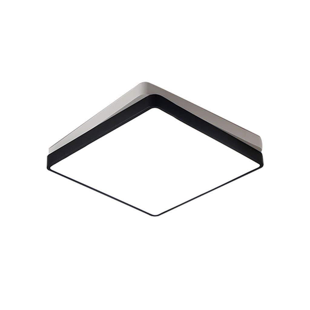 Haiyao Led幾何学的なシーリングランプシンプルな錬鉄製スクエアスタディルームリビングルームのベッドルーム無段階調光クリエイティブパーソナリティランプ (Color : White Light, サイズ : B) B07SDMV8ZC White Light B