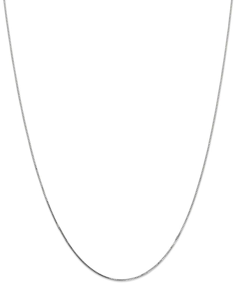ICE CARATS 14k White Gold 0.70mm Link Box Chain Necklace 20 Inch Fine Jewelry Gift Set For Women Heart