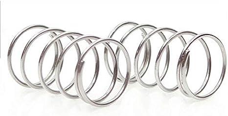 NO LOGO W-NUANJUN-Spring 10Pcs Au/ßen-/Ø 25 mm Y-Typ Druckfeder Edelstahl 304 Nicht korrosiv Federstahldraht-Durchmesser 1,5 mm L/änge 10-50mm Gr/ö/ße : 1.5x25x10mm