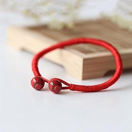 7902af48133b ransopakul nuevo hecho a mano abalorio de Pulseras de la suerte rojo cadena  joyas de cerámica
