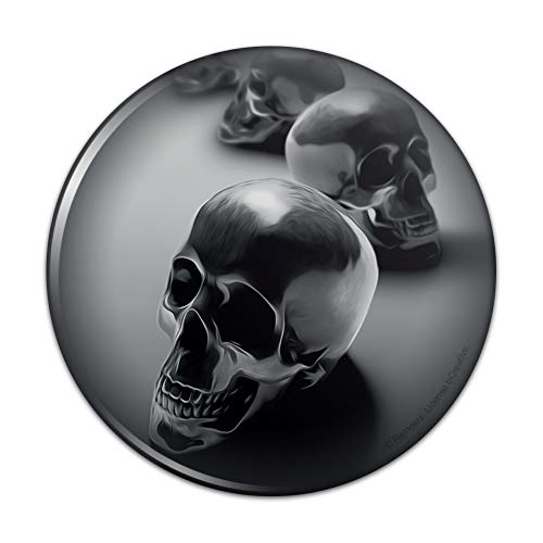 Metal Skulls Skeletons Compact Pocket Purse Hand Cosmetic Makeup Mirror - 3