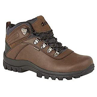 Dek Mens Derwent PU Suede Leather Padded Laced Ankle Walking Boot 6
