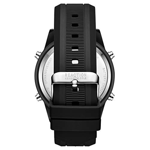 Kenneth Cole Men's Quartz Sport Watch with Silicone Strap, Black, 24 (Model: RK51107003)