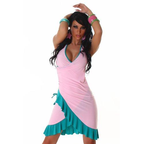 Bella Halter Dress (JELA London Women's Halter Dress One Size Baby Pink/Sea)