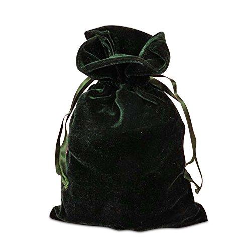 Fishy Bird Love Hunter Green Velvet Bag, 6