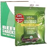 Laura's Lean Beef Organic Grass Fed Jerky, Original, 3 Oz Bags (Case of 8)