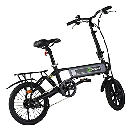 Electric Sports Bike >> Goplus Folding Electric Bicycle Lightweight Portable Sport Bike Lithium Battery W Two Speed Electronic Transmission System