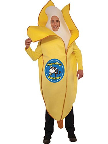 Forum Novelties Men's Appealing Banana Mascot Costume, Yellow, One Size]()
