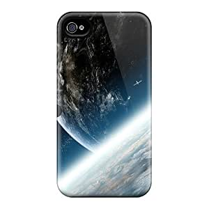 Ultra Slim Fit Hard HenryAnaton Case Cover Specially Made For Iphone 4/4s- Earth
