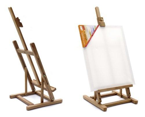 XXL Artina® Tischstaffelei Metz als Sitz-Staffelei aus Buche-Holz für Keilrahmen bis 62,5cm verstellbarer Neigungswinkel