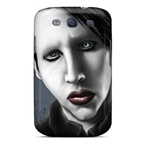 MarieFrancePitre Samsung Galaxy S3 Excellent Hard Phone Covers Custom High Resolution Marilyn Manson Band Skin [MHP7348Bzxi]