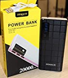 Demaco Power Bank 20000mah tow Color Black/Whight