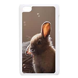 Pharrel Bunny Ipod Touch 4 Case Cute Bunny Soap Bubbles, Men Cool Bunny, {White}