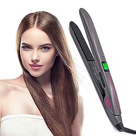 naiyo hair straightening irons - 41tLLH7D3ML - NAIYO Hair Straightening Irons Hair Professional Salon Hair Straightener Argan Oil Tourmaline Ceramic Titanium Straightening Flat Iron for Healthy Styling