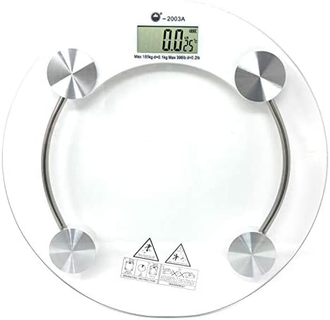 Digital Scales for Body Weight Scale – Most Accurate Digital Bathroom Scale – Bath Scales Digital Weight That Keep You on Track – Weight Scales for People with Skid-Proof Design Glass Platform Round