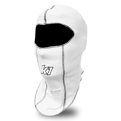 K1 Race Gear Single Layer Nomex Head Sock/Balaclava (White) Nomex Socks