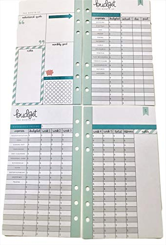 Budget Planner Pages for Personal Planner, 26 Double-Sided, ()