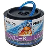 Philips 16x 4.7GB 120-Min DVD-R Media 50-Pack