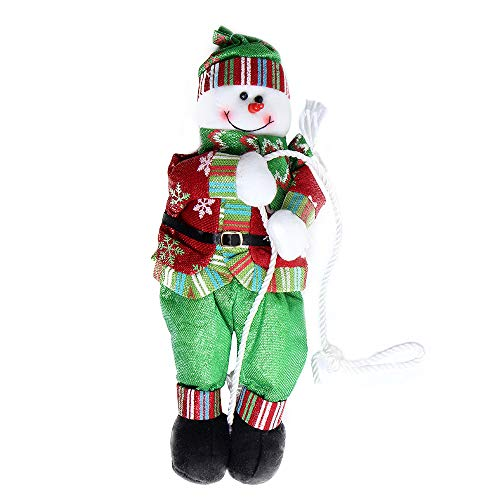 Hot Sale!DEESEE(TM)Christmas Santa Rope Dolls Climbing Tree Hanging Decorations Holiday Accessories (A) ()