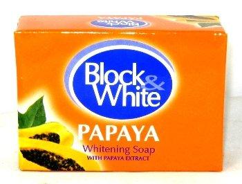 Soap Whitening Philippines (Block & White Papaya Whitening Soap 80g)