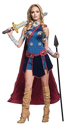 Secret Wishes Women's Marvel Universe Valkeryie Costume, Multi, Small (Sexy Nerd Costume)