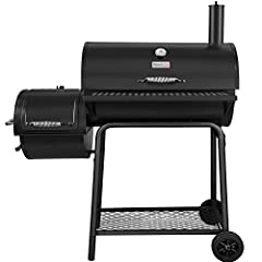 Prepare delicious gourmet meals for the family with this Royal Gourmet offset-Smoker charcoal grill CC1830F. With a compact design, this versatile appliance can fit on most patios, balconies and decks with ease. The porcelain enamel cooking g...