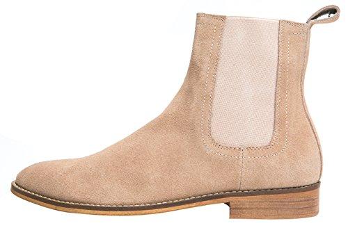 93522a09415 Santimon Chelsea Boots Men Suede Casual Dress Boots Ankle Boots ...