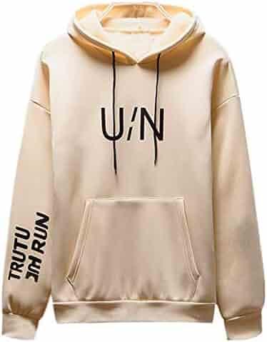 262ed14e42cf5 Men Fashion Hoodie,Men's Autumn Winter Long Sleeved Letter Printed  Sweatshirt Pocket Hoodie Tops
