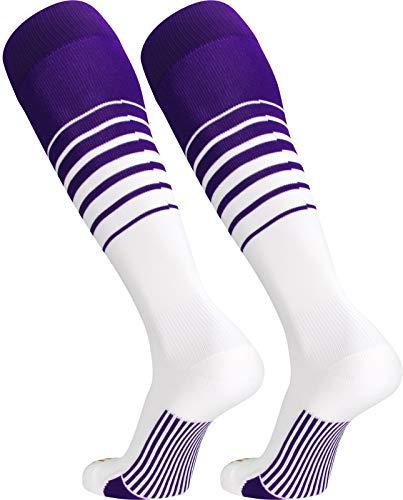 (TCK Sports Elite Breaker Soccer Socks (Purple/White,)