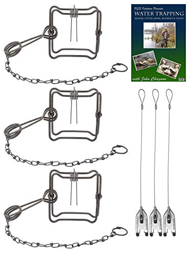 (3 Pack) Duke #110 Body Gripping Trap Value Package - DVD  Trap Stakes Included best to buy