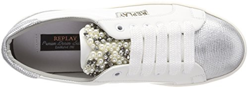 Basses Femme white Rocket Sneakers Multicolore Silver Replay ESpq0wOn