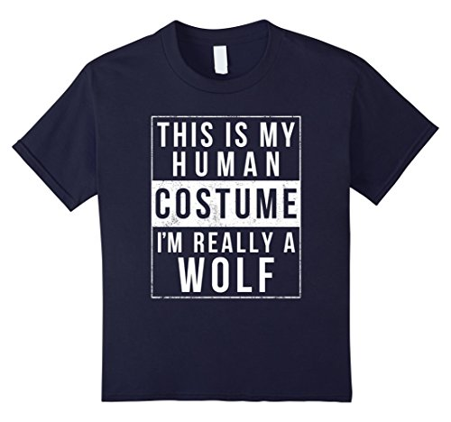 Halloween Group Costume Ideas Cheap (Kids Wolf Halloween Costume Shirt Funny Easy for Kids Men Women 10 Navy)